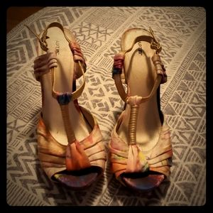Tie dye heels